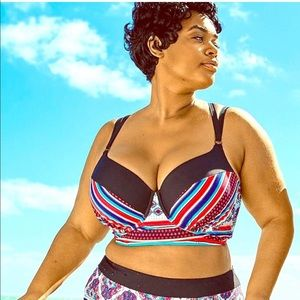 Other - Plus size tribal bathing suit top 44DD